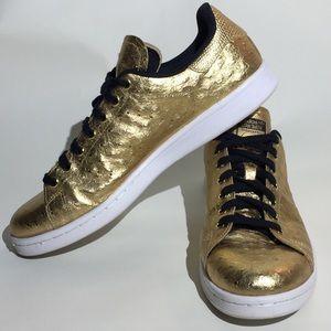 Adidas Stan Smith Metallic Gold 'Ostrich' Leather
